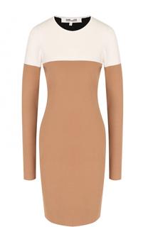 Приталенное мини-платье с длинным рукавом Diane Von Furstenberg