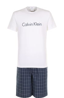 Хлопковая пижама с шортами Calvin Klein Underwear