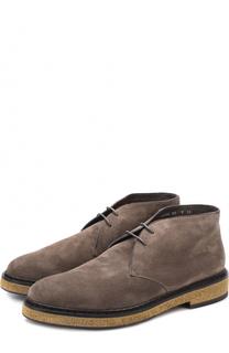 Замшевые ботинки с внутренней меховой отделкой Santoni