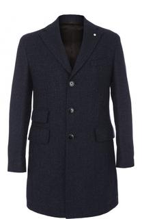 Однобортное шерстяное пальто с отложным воротником L.B.M. 1911