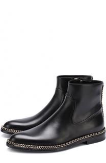 Кожаные ботинки с металлической отделкой Lanvin