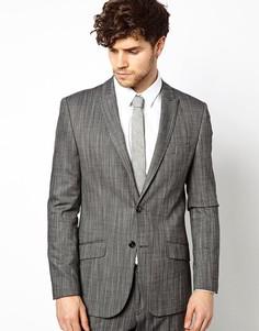 Приталенный пиджак River Island - Серый