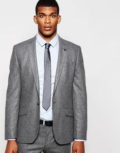 Полушерстяной пиджак зауженного кроя River Island - Серый