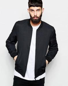 Черная легкая куртка‑пилот River Island - Черный