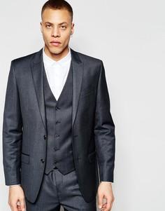 Темно-серый пиджак узкого кроя River Island - Серый