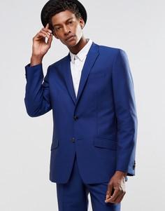 Синий пиджак зауженного кроя River Island - Темно-синий