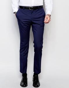 Темно-синие зауженные брюки River Island - Темно-синий