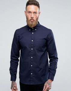 Темно-синяя оксфордская рубашка классического кроя River Island - Темно-синий