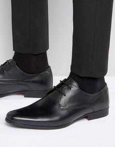 Черные кожаные туфли дерби River Island - Черный