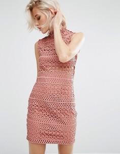 Кружевное платье River Island Cornelli - Бежевый