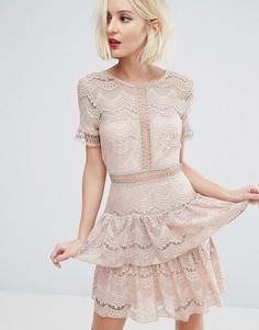 Кружевное платье River Island - Коричневый