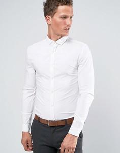 Белая рубашка зауженного кроя из эластичной ткани River Island - Белый
