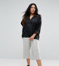 Укороченные брюки с начесом River Island Plus - Серый