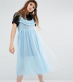 Платье-футболка макси Reclaimed Vintage - Синий