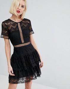 Кружевное платье River Island - Черный