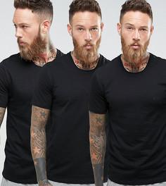 3 классические черные футболки BOSS Black By Hugo Boss - Черный