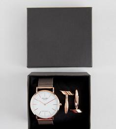 Подарочный набор с часами и запонками золотисто-розового цвета Reclaimed Vintage Inspired эксклюзивно для ASOS - Золотой
