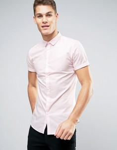 Узкая розовая рубашка River Island - Розовый