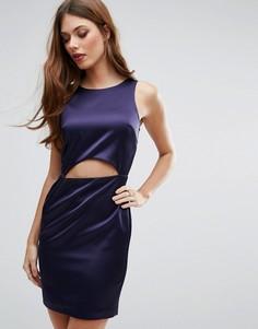 Облегающее платье мини с вырезом River Island - Темно-синий
