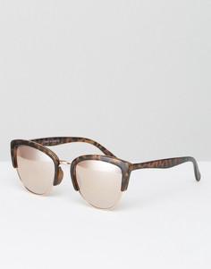 Солнцезащитные очки в черепаховой оправе River Island - Мульти