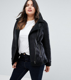 Байкерская куртка Junarose Plus - Черный
