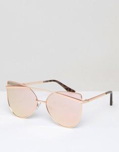 Круглые солнцезащитные очки River Island - Золотой