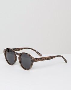 Коричневые круглые солнцезащитные очки River Island - Коричневый