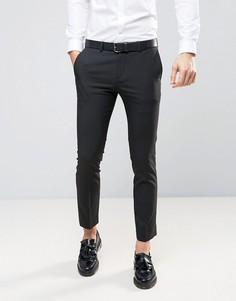 Черные суперзауженные брюки River Island - Черный