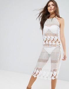Кружевное платье миди River Island - Белый