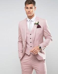 Розовый пиджак скинни River Island - Розовый