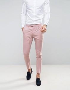 Розовые облегающие брюки River Island - Розовый