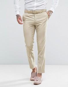 Бежевые брюки скинни River Island - Светло-серый