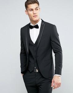 Черный пиджак под смокинг River Island - Черный