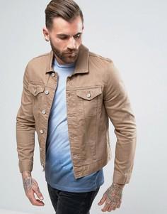 Светло-коричневая джинсовая куртка River Island - Коричневый