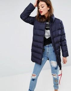 Дутое пальто Love Moschino - Синий