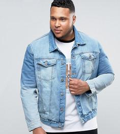 Синяя джинсовая куртка River Island PLUS - Синий
