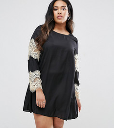 Свободное платье с кружевными рукавами AX Paris Plus - Черный