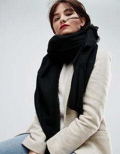 Мягкий легкий шарф из вискозы ASOS - Черный