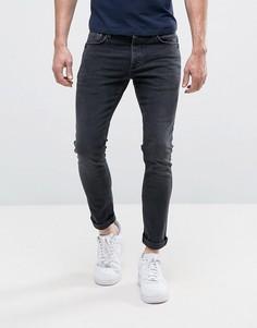 Выбеленные черные джинсы скинни River Island - Черный
