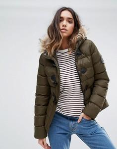Короткое дутое пальто Brave Soul - Зеленый