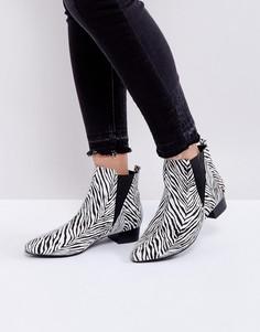 Ботинки на среднем каблуке с острым носком London Rebel - Мульти