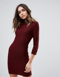 Платье-джемпер с воротником поло Brave Soul - Красный