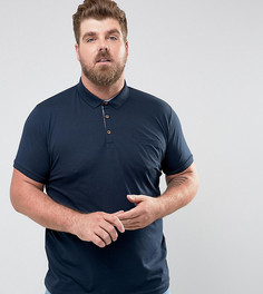 Футболка-поло с короткими рукавами и карманом Brave Soul PLUS - Темно-синий