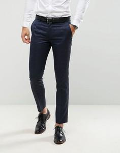 Жаккардовые брюки зауженного кроя под смокинг Farah - Темно-синий