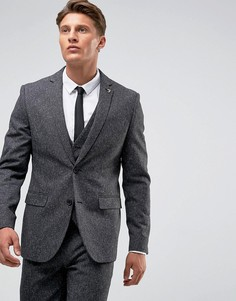 Облегающий пиджак в крапинку Farah Winter - Серый