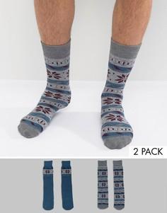 Две пары носков Totes Original - Синий
