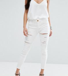 Рваные джинсы River Island Petite - Белый
