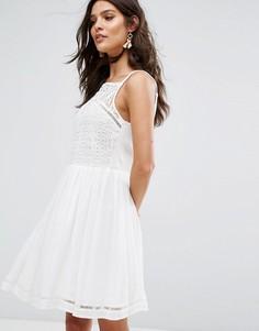 Платье мини River Island - Кремовый