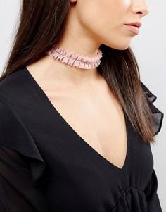 Розовое ожерелье со стразами River Island - Розовый