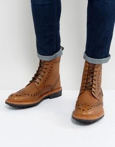 Светло-коричневые кожаные броги Ben Sherman - Рыжий